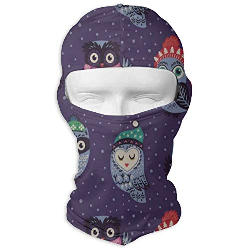 Balaclava Christmas Owls Full Face Masks UV Protection Ski Hat Headcover Motorcycle Hiking Women Men