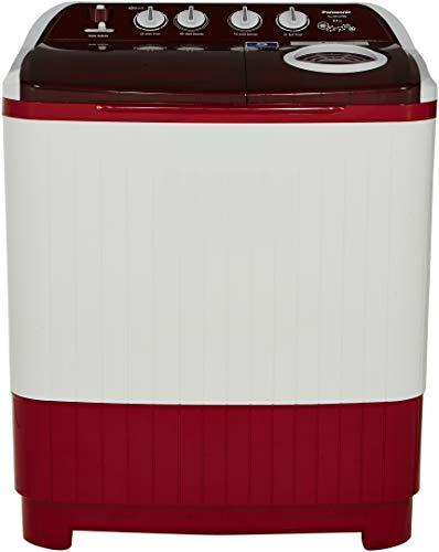 Panasonic 8 kg Semi-Automatic Top Loading Washing Machine (NA-W80H4RRB, Red)