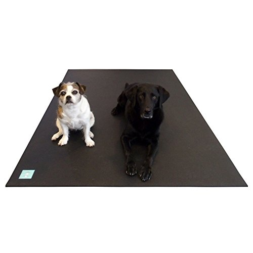 Rubber Kennel Mats - Multipurpose XXL Dog Mat. Can be Used as a Kennel Mat/Dog Bed/Dog Car Mat/Crate Mat or Training Mat. Anti-Slip, Cushioning Pet Mat. Can Be Cut to Fit Any Space. 7 Ft x 6 Ft, 7mm Thick & 20 lbs.