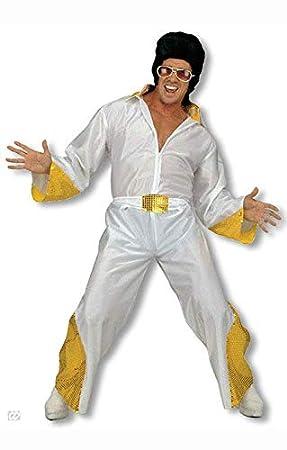 Horror-Shop Disfraz de Rey de la roca con brillo dorado S: Amazon ...