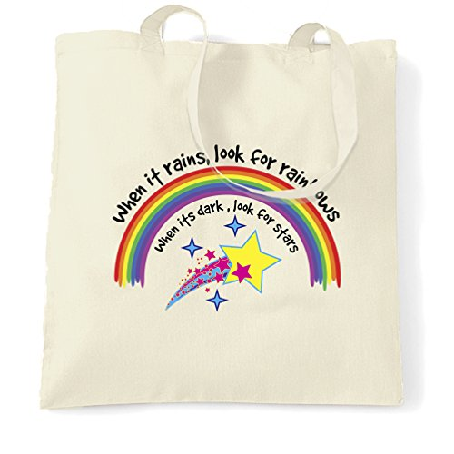 Rainbows One Rains Tote It Natural Size Inspirational For Natural Look When Bag ZI0npqz