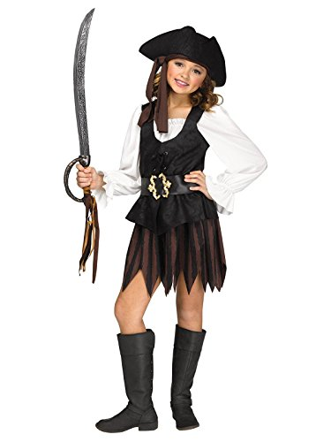 Fun World Big Girl's Large/Rustic Pirate Maiden Children's Costume, Multicolor, Large]()
