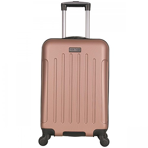 Heritage Lincoln Park 20″ Abs 4-Wheel Carry on Luggage, Rose Gold