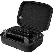 AmazonBasics - Funda de viaje y almacenamiento de juegos, para Nintendo Switch - Negro