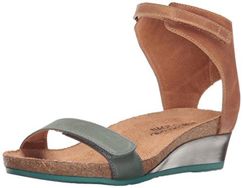 Medium Green Leather Footwear - Naot Footwear Women's Prophecy, Sea Green Leather/Latte Brown Leather, 37 (US Women's 6) M