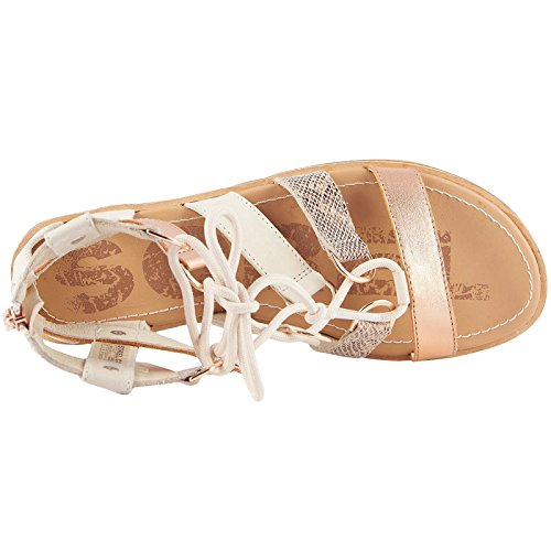 Sorel Womens Ella Lace-Up Leather Sandals Natural