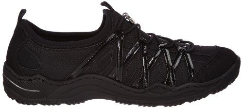 Schwarz Damen Schwarz Schwarz Sneakers 01 Schwarz Schwarz L0564 Rieker gSUx6