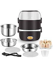 Rijstkoker, mini-huishouden drielaags verwarming fornuis, (2L / 200W / 220V) intelligente stoomboot isolatie lunchbox, koken stomende rijst soep