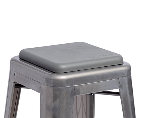 Sofft Cushion Square Seat Cushion for Metal Bar Stools or Chairs - Cushion Only (Gray) by Sofft