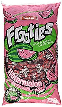 Watermelon Tootsie Roll Frooties Chewy Candy - 360-piece Bag (Gluten Free ~ Peanut Free) (2 Bags)