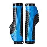Handlebar Grips, Ergonomic Handlebar Grips Double Lock on BMX MTB Mountain Bike Bicycle Cycling Handle Bar Handlebar Grip(Blue)