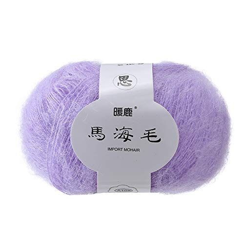 Transer Lightweight Soft Mohair Cashmere Hand Knitting Wool Crochet Knitwear Yarn for Knitting, Crocheting, Weaving - 41 Colors, 25.0g / Skein (16)