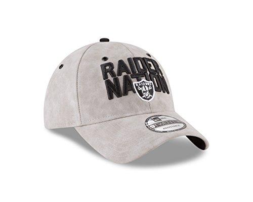 New Era Oakland Raiders 2018 Spotlight 9TWENTY Adjustable Strapback (New Era Leather Cap)