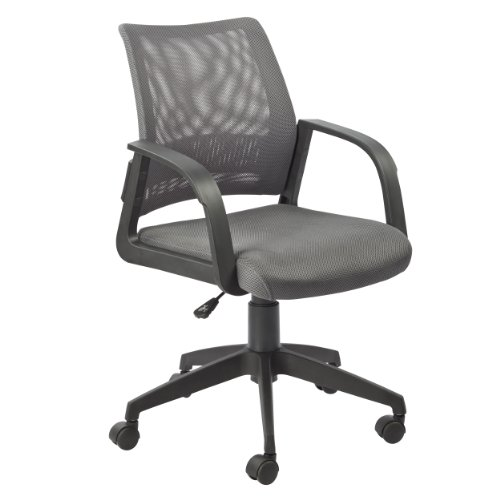 Leick Gray Mesh Back Office Chair Castered Arm Chair