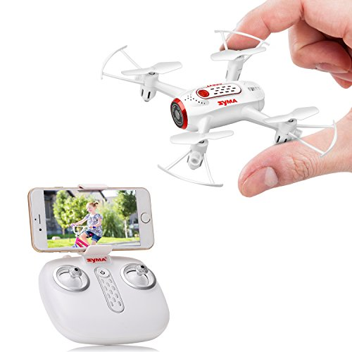 SYMA-X22W-Drone-with-Camera-Live-Video-FPV-Nano-Pocket-Mini-Drone-for-Kids-and-Beginners-RC-Quadcopter-with-App-Control-Altitude-Hold-3D-Flips-Headless-Mode-White