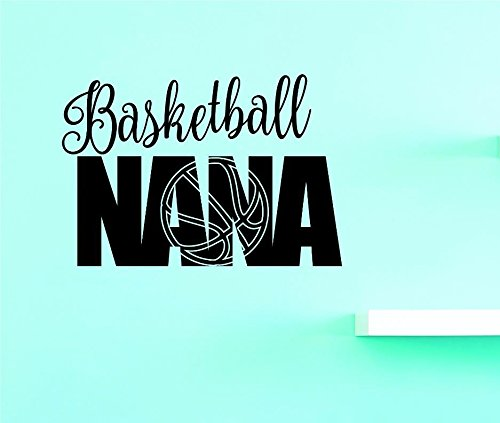 Black Design with Vinyl US V JER 3985 1 Top Selling Decals Basketball Nana Wall Art Size 10 x 20 10 x 20 Color