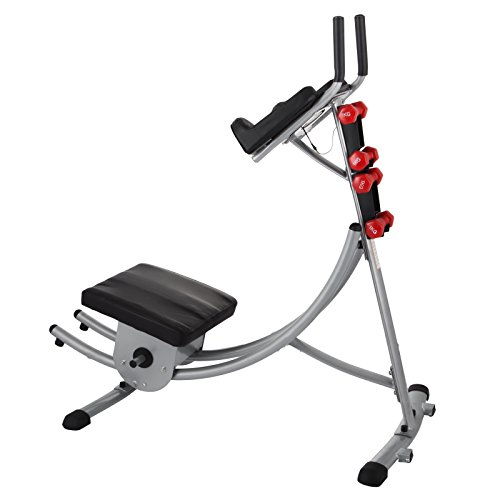 Popsport Abdomen Machine 330LBS Abdominal Coaster Abdomen Exercise Equipment with Adjustable Seat for Abdominal Muscle Training (Ab Coaster with 4 Dumbbells) by Popsport (Image #1)