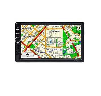 Coche MP5 Reproductor De 7 Pulgadas De Pantalla Táctil Coche Bluetooth MP5 Reproductor De Coches Tarjeta GPS De Navegación Una Máquina: Amazon.es: Deportes ...