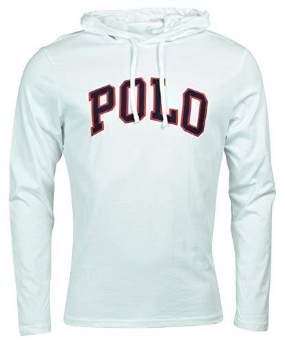 Polo Ralph Lauren Men's Long Sleeve Graphic Jersey Hoodie - L - White
