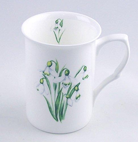 Snowdrop Chintz - Fine English Bone China Mug - England