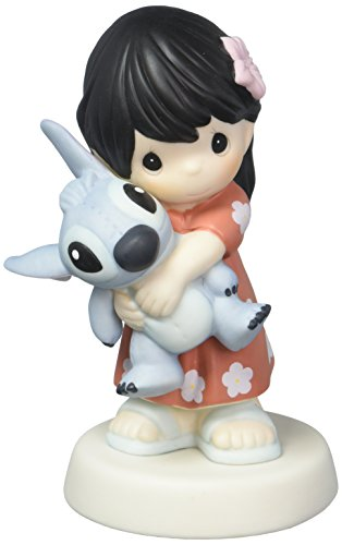 (Precious Moments Disney Showcase Collection Ohana Mau Loa Means Family Forever Bisque Porcelain Figurine 163033)