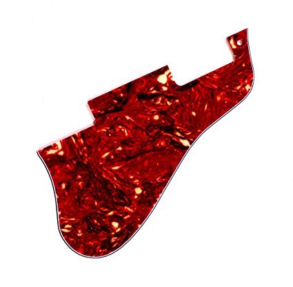 Red Custom Gibson Guitar - Short ES 335 guitar pickguard 4ply red tortoise fits gibson (PE-00039)