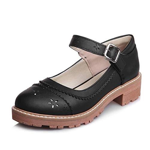 ZHZNVX Chunky Beige Polyurethane PU Heels Basic Pink Grey Gray Pump Women's Spring Heel Shoes rqSxrAZ