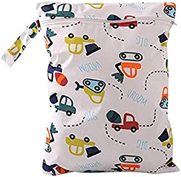 Beach,Daycare Wet Dry Bag,Demarkt Capacity Waterproof Cloth Diaper Nappy Bag Hanging Zippered Pockets for Baby Diaper Travel