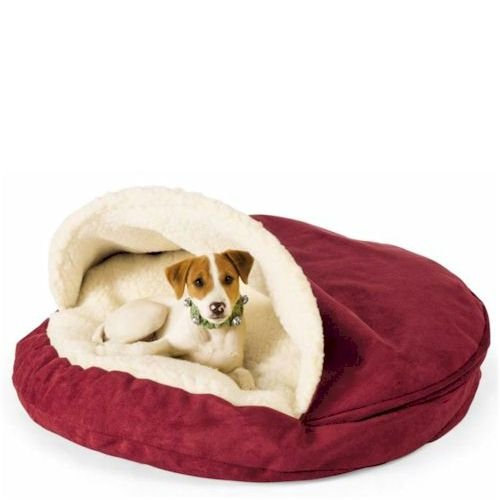 Snoozer Luxury Cozy Cave Pet Bed, X-Large, Toro Antique Gold, My Pet Supplies