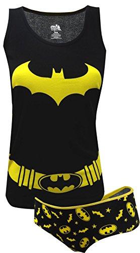 DC Comics Women's Ladies Tank and Panty Set Bat Girl, Black, Small