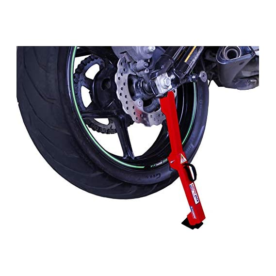 BlueBurns/Moto Jack LITE - for Less Than 500CC Motorcycles - Chain Maintenance, Cleaning, Puncture Check Assistance for