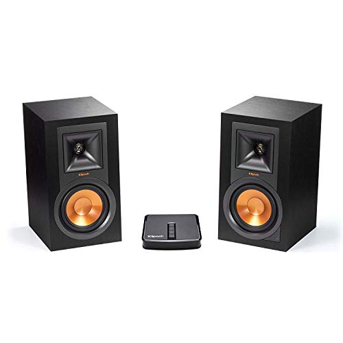 Klipsch R-15PM Powered Monitor - Black (Pair) with Gate PlayFi Gateway Wireless MultiRoom Hub