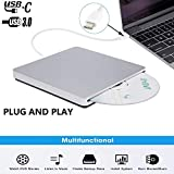 Xglysmyc External USB C Superdrive Ultra Slim USB3.0 CD DVD Drive Burner External