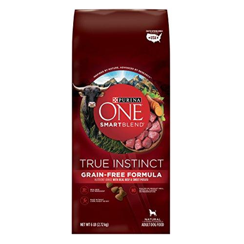 Purina One Smartblend True Instinct Natural Grain-Free Formula With Real Beef & Sweet Potato Adult Dry Dog Food - 6 Lb. Bag