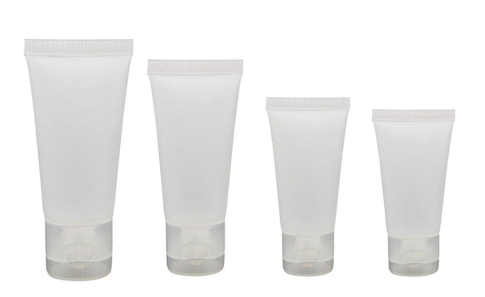 20 pcs 10 ml/15ml/30ml/50ml Transparent vide Flacon rechargeable échantillons de tubes de doux d'emballage plastique récipient pour produits cosmétiques Shampooing nettoyant Gel douche Lotion pour le corps erioctry