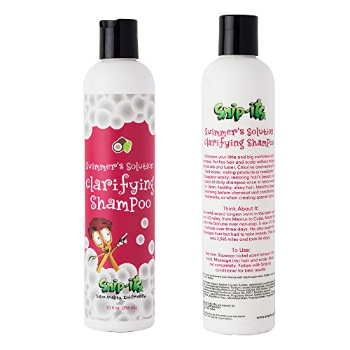 Snip-its Natural Swim Shampoo for Kids | Tear Free Shampoo for Kids - Tropical Smell- Swimming Shampoo for Chlorine Removal | Natural Swimmers Kids Shampoo Made in the USA | Salon Quality Kid Friendly