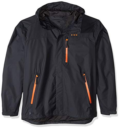 (Helly Hansen Men's Vancouver Waterproof Outdoor Rain Jacket with Hood, Ebony, X-Large)