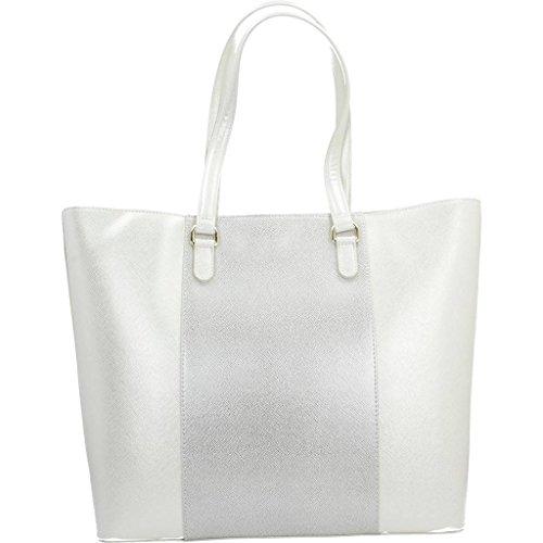 Armani Platinum Marque Jeans Sacs Shopping Silver Borsa Kate Jeans Maroquinerie Couleur Argent Argent Maroquinerie Modã¨le 6C6xAqU