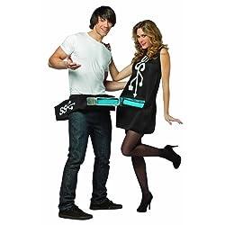 Rasta Imposta Usb Port and Stick Couples Costume Black/Blue One Size