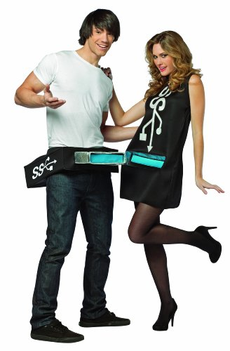 Rasta Imposta Usb Port and Stick Couples Costume, Black/Blue, One Size -