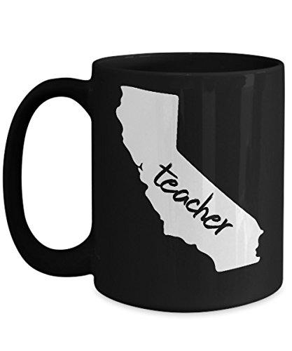 Back to School Mugs, California Teacher home state 11, 15 oz Ceramic Coffee mugs, Tea cups - Funny Gift for mother, aunt, father, uncle love teaching on First day of new class, birthday, grandparents'