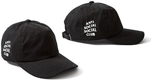 55763edf0087c WellDam Unisex Anti Social Social Club Adjustable Baseball Cap ...