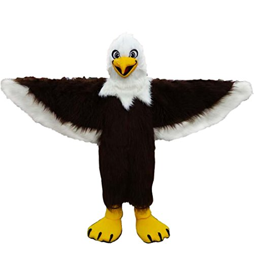 Brown Eagle Long Hair Mascot Costume Real Picture 15-20days (Eagles Cheerleading Costume)
