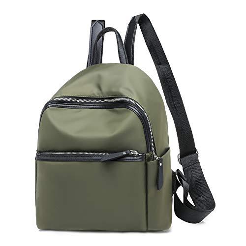 Nylon Zaino Movimento Pelle Per In black Donna Ypsg H28cm Filo W25cm Cucire Green Moda T13cm w80qxgd