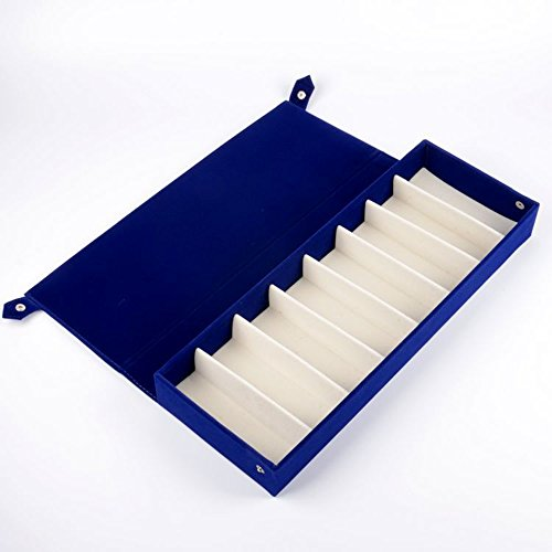 PythonWorld 8 Grids Deer Leather Eyeglass Sunglass Boxes Eyewear Storage Organizer Eyewear Jewelry Display - Sunglass Near Me Store