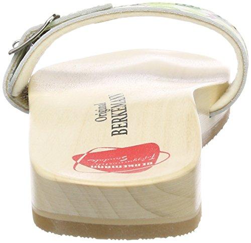 Berkemann Unisex-adult Originele Sandaal Mules Veelkleurige (wit / Toucan)