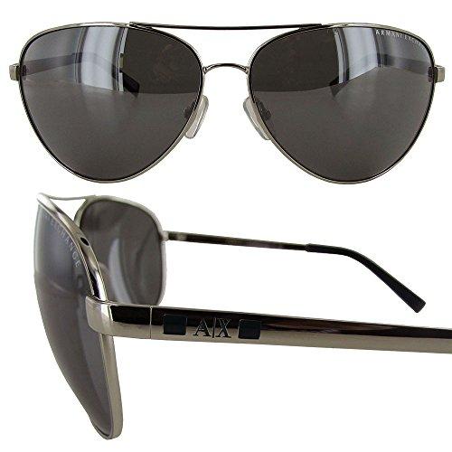 Armani Exchange AX 2006 Unisex Sunglasses Silver / Indigo Wash 63