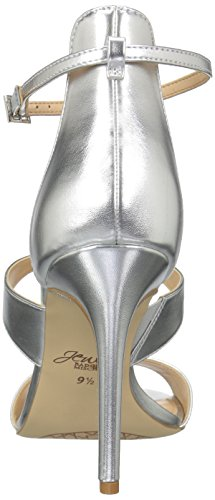 Delle Mischka Metallizzato Tacco Argento Sandalo Mica Badgley Donne t7xwzzU