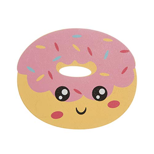 Price comparison product image Darice Donut Painted Wood Shape: 4.63 x 4.13 inches,  Multicolor