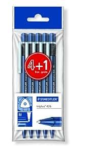 Staedtler 426 PB5 - Bolígrafo de bola retráctil, azul